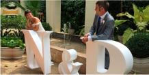 letras gigantes boda
